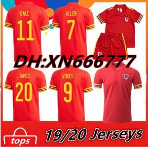 2020 Galles BALE JAMES maglia da calcio 20 21 Wales maglie maillot de camicia piede RAMSEY Camisetas Uomi bambini kit di calcio
