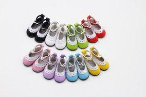 BJD 인형 패션 미니 장난감 레이스 캔버스 신발 러시아어 인형 액세서리 1/6 인형의 경우 1 쌍 5cm PU 가죽 신발