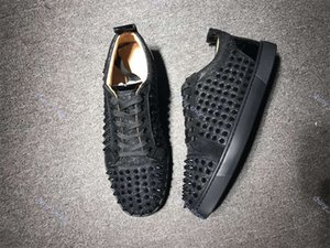 xshfbcl progettista luxe Sneakers Low Cut Spikes Flats Shoes Red Bottom For Men and Women Leather Sneakers Party progettista Shoes