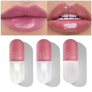 Pudaier Mini Capsule Tube Увлажнение Clear Блеск для губ изменения цвета уплотняет блеск для губ Блеск для губ Макияж глянцевыми Оттенок 120pcs / серия DHL
