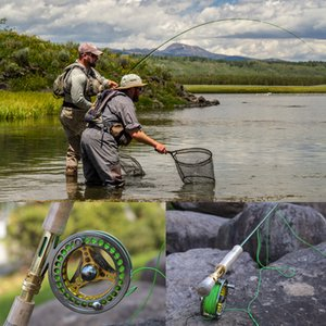 Sougayialng 7 8 Fly Fishing Combo Portable 4 Sections Carbon Fiber Fishing Rod 2+1BB Fly Reel Line Lure Bag Full Accessories Set