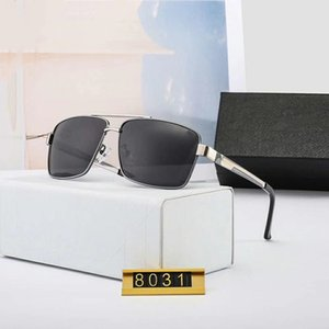 2020 Mens Sunglasses Driving Sunglasses Polarized Goggle Glasses Style 8031 UV400 4 Colors Optional High Quality with Box