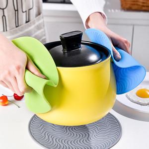 Silicone Pot napperon chaleur Diamètre ronde résistant à 20cm Pot Pot Mat épais silicone Porte antidérapante Coaster Pan