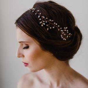 Bride Manuel cheveux Décore luxe d'argent pleine Drill perle perlée cheveux bande Bride Marry Accessoires Head Bring