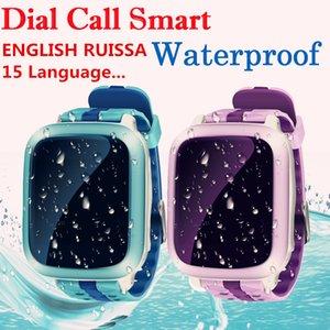 GPS Crianças relógio inteligente DS18 GPM GPS WiFi Locator Rastreador Kid Relógio de pulso à prova d'água SOS Chamada Smartwatch Criança Para iOS Android