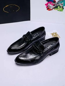 Men's Leather Of England Man And A Pedal Metal Buckles Oxfords Business Casual Mens Dressing Shoes Loafers The designer men's shoe