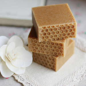 Hand Made Honey Milk Soap Body Lotion For Moisture Skin Care Body Cleaning Cool and Gentle Against Sunshine Top Quality Free Shipping