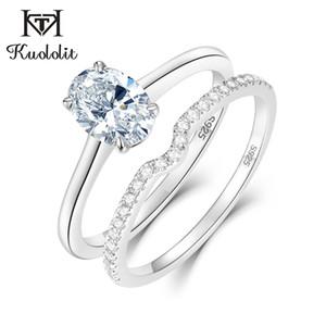 Kuololit solido argento 925 anelli d'argento per le donne Stacking Banda Engagement Parte regalo di nozze classica romantica Fine Jewelry