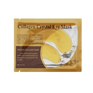 4 couleurs doré blanc masque femmes masque de paupière en cristal / cristal collagène masque pour les yeux masque doré sombre cercle bateau gratuit