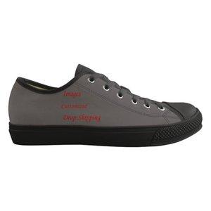 Chaussures de sport sur mesure classique pour hommes bas Custom Style Images ou Logo Toile Hommes vulcaniser Chaussures Casual Lace Up PLATS Spring Shoes
