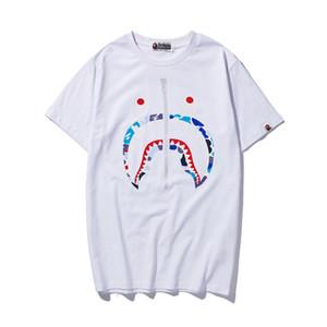 Amante do verão Carta de Impressão de Algodão Camisetas Adolescente Tamanho Grande Ocasional Em Torno Do Pescoço de Manga Curta Personalidade T-shirt