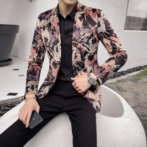 New Men Suit Tuxedo Slim Fit for Wedding Dress Suits Blazer Digital Printing Design Men's Suits Fashion Catwalk Models High-end Men's Jacket