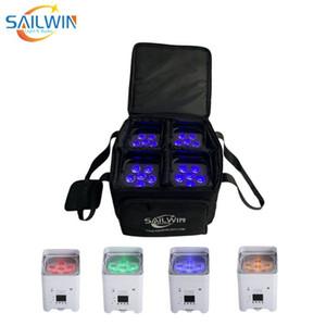 4X Sailwin 6x18W RGBWA + UV Travel Bag 6in1 LED Par DJ LED della discoteca della luce della fase di DMX della batteria senza fili luce par mobile astuto PAR CAN proiettore Wih