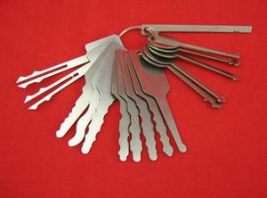Ключи Jiggler 16-кусок набор консервооткрывателя двери полнофункциональная отмычку, чтобы открыть замок двери