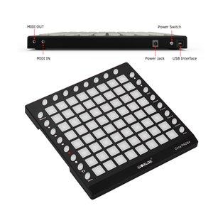 WORLDE ORCA PAD64-A USB MIDI Drum Pad controlador 64 RGB retroiluminado Pads 24 Botões Built-in 128MB módulo de som com USB Cable