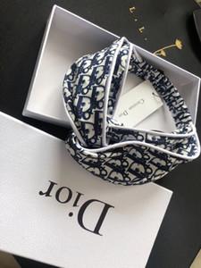 الفخامة الكلاسيكية إلكتروني الأزرق 100٪ عصائب الحرير أعلى جودة من الحرير الناعم جدا بالنسبة للمرأة turband السيدات النبيلة رئيس الاكسسوارات الفاخرة مع العلامة