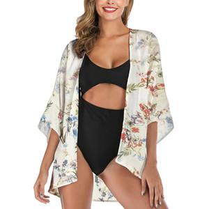 Floral Cardigan Sunscreen shirt Moda soltas Verão meia manga Designer Coats New Color Contrast Casual Moda Feminina
