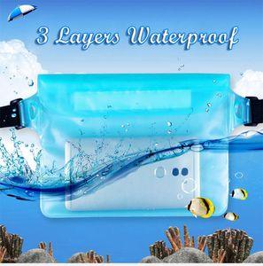 À prova d 'água à deriva mergulho saco de natação subaquática designer mala bolsos de cintura seca para o caso da câmera do telefone móvel