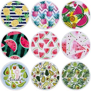 Watermelon Strandtuch 150cm Polyester Wassermelone Ananas-Druck-Strand-Decke Frühlings-Sommer-Picknick-Yoga-Matten 36 Styles