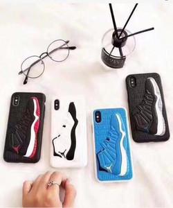 cubierta de la caja del teléfono celular móvil patrón de la zapatilla de deporte de caucho de silicona suave para el iphone 6 / 6S 7 8 plus X XS 11 pro max