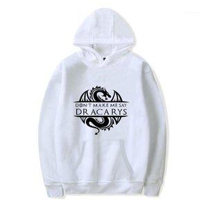 Avec Poches Mâle Vêtements Dracarys Imprimer Mens Hoodies La Chanson De Glace Mens Manches Longues Sportswear