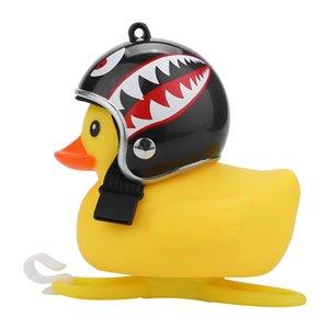 Başkanı Işık Bell Aksesuarlar S30 Duck Kask Bisiklet Bell Işık Dağ Bisikleti Handlebar Duck 1pc Sarı Silika Karikatür Küçük