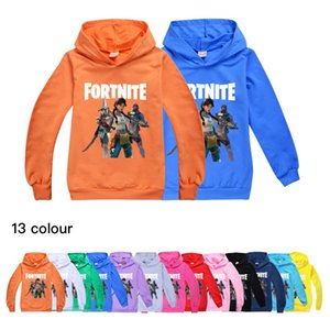 13 Color Fortress night children's hooded long-sleeved hooded sweater boys and girls hooded top Baby Kids Clothing
