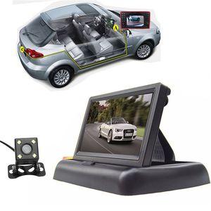 "Freeshipping Foldable 4.3 ""TFT LCD 미니 자동차 모니터 주차 시스템 야간 투시경 차량 뒤집기 후면보기 백업 카메라"