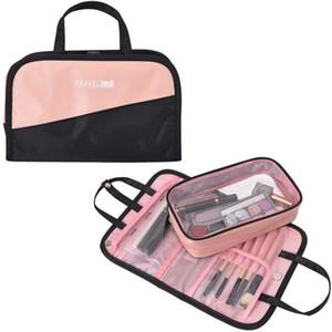 여성 폴리 에스테르 화장품 여행 가방 세면 용품 보관 파우치 드롭 배송 여성 높은 용량 화장품 가방 디자이너 - 메이크업 가방