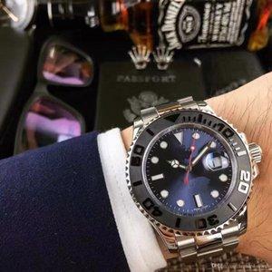2020 homens quentes da venda 2813 automática 40MM relógio mecânico série iate discagem cerâmica moldura 316L aço inoxidável pulseira relógios mestres clássicos
