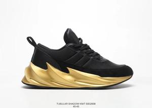 Yeni Köpekbalıkları Konsept TUBULAR GÖLGE KNIT Koşu Ayakkabıları Erkek Kadın Siyah Altın Spor Eğitmeni Sneakers 36-45