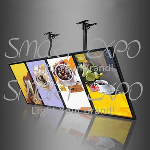60x160cm Fast Food Conservare Hang Menu Board Menu Display Signage con 4pcs Light Boxes Unità caso di legno Imballaggio