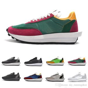 Cheap Sacai LDV X Waffle Daybreak Trainers Mens Running Shoes Green Gusto Pine Green Wolf Grey For Women men outdoor Sports Sneakers 36-45