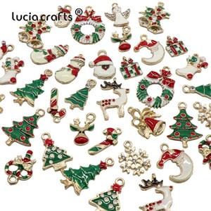380pcs Творческий рождественские украшения кулон Diy Metal Crafts Xmas Tree Christmas Party Свадебные украшения Дети подарков H0250
