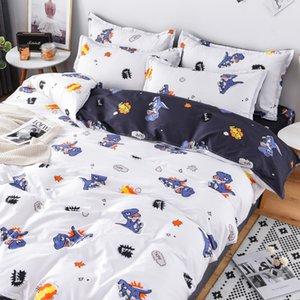 e Soft comfortable duvet Cover set dinosaur Reactive printed duvet cover+Bed sheet+Pillowcase Home textile decoration