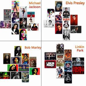 20 * 30 cm Michael Jackson Bob Marley Elvis Presley Metallo Targhe in metallo Vintage Poster Metal Wall Home art metallo Pittura Decorazione della parete di immagini di arte
