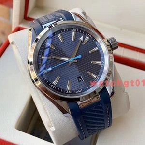 Mens di alta qualità Sprorts Men Watch Aqua Terra Skyfall SEA coassiale 8900 mens Movimento orologi automatici 41,5 millimetri in acciaio elastico orologio da polso
