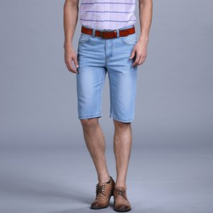SULEE Marka 2019 Yaz Denim Çekim Erkekler Slim Fit Moda Klasik Kot Kısa Erkek Giysileri Yüksek Kaliteli Artı Boyutu