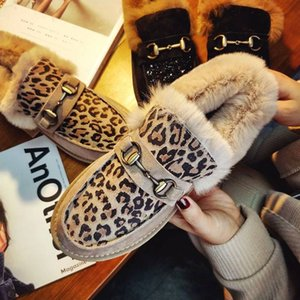 20191116 New leopard pattern cotton shoes flat sole in winter