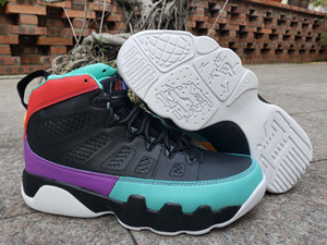2019 New Jumpman 9 Dream It Do It Black University Red Dark Concord Retro Basketball Shoes 9s UNC Bred Kids Sports Outdoor shoes