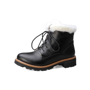 Big SizeSimple and fashionable fluffy short boots boots women shoes ankle for women ladies shoes woman winter