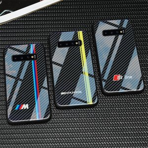VW Golf bmw telefone de vidro temperado para Samsung Galaxy S10 Plus casos para audi sline RS Ford Mustang AMG Civic