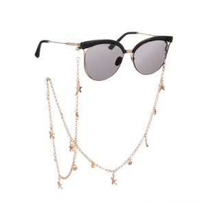 70cm Starfish Shell Sunglasses Chains Pearls Rhinestones Eyeglass Cord Holder Other Fashion Accessories Lanyard Necklace Glasses Beaded Nec