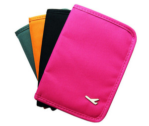Wholesale Full Short Passport Documents Package Travel Bag Pouch Id Credit Card Wallet Cash Holder Organizer ,nylon Multi Purse