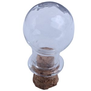 Mini Glass Bottles Jars with Cork Wish Note Craft Bottle Pack of 10 Bulb Shape Clear