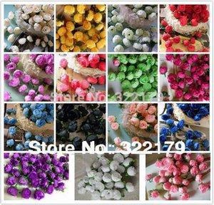 """Wholesale-1.2"""" 200X Silk Rose Heads Decorative flowers Artificial Wholesale Wedding Favors Decoration Cheap 15 Colors"""