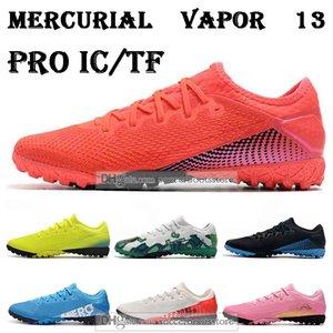 Hediye çantası erkek düşük ayak bileği Futbol Kramponları CR7 Mercurial Buharlar 13 Pro IC TF futbol ayakkabıları Superfly Neymar Jr kapalı çim Futbol Cleats