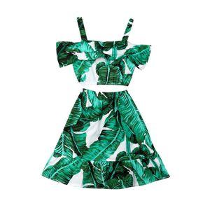Pudcoco 2019 Summer Green Fashion Toddler T-shirt per bebè bambina Tops + Gonna lunga Abbigliamento completo