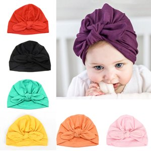 7 Pcs Headband Updated Version Baby Hat- Newborn Baby Girl Soft Cute Turban Knot Rabbit Hospital Hat