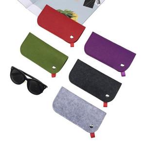 Femme Homme 1Pc Laine souple Portable feutre tissu étui à lunettes Sac multifonctions Lunettes de soleil Case Box Lunettes Pouch